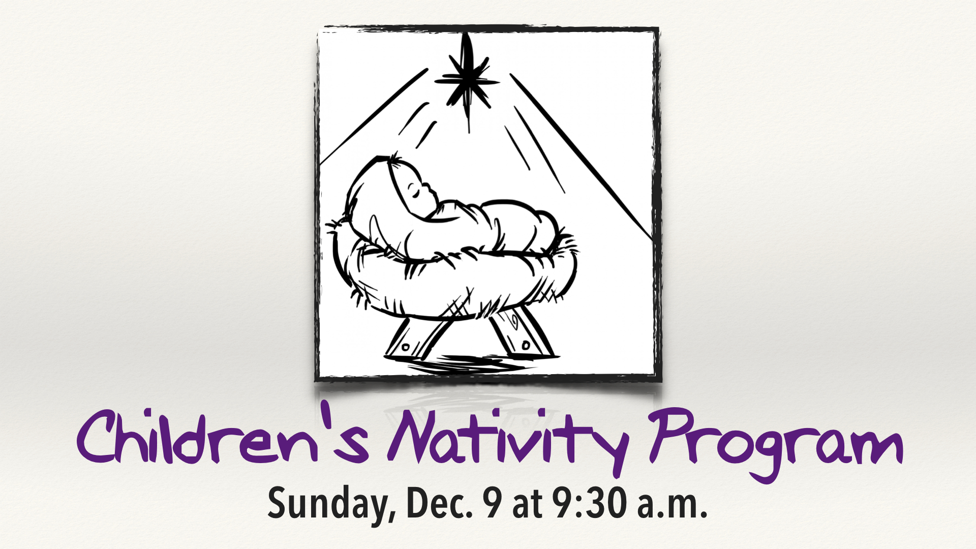 Children's Nativity Program