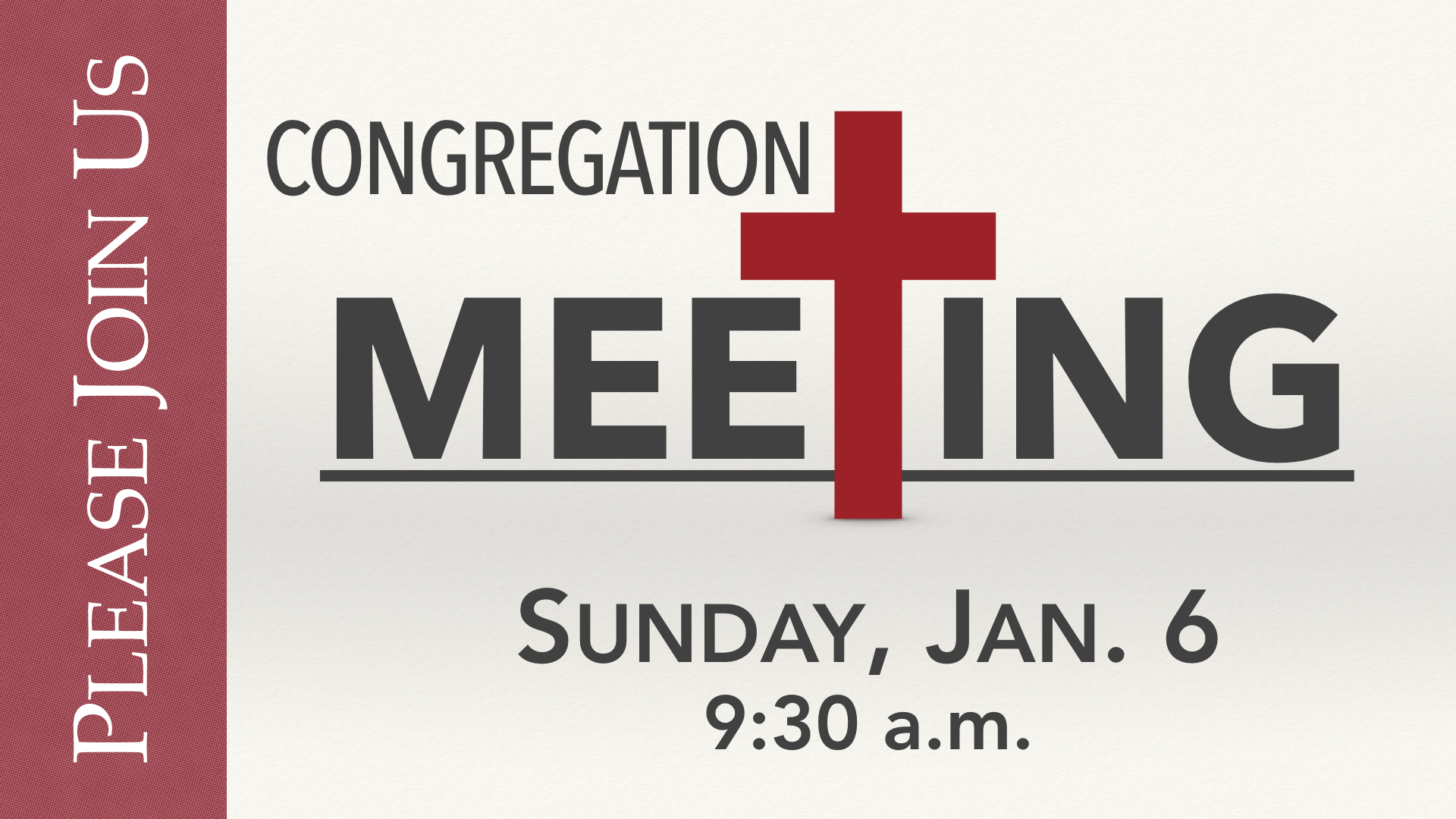2019 January Congregation Meeting