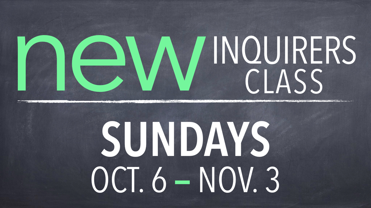 RLC New Inquirers Class on Sundays Oct. 6 through Nov. 3