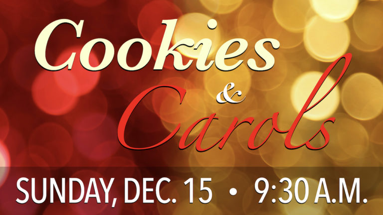 Christmas Cookies and Carols Learning Hour on Sunday, Dec. 15 at 9:30 a.m.