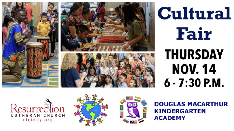 RLC and DMKA Cultural Fair on Thursday, Nov. 14 from 6-7:30 p.m.