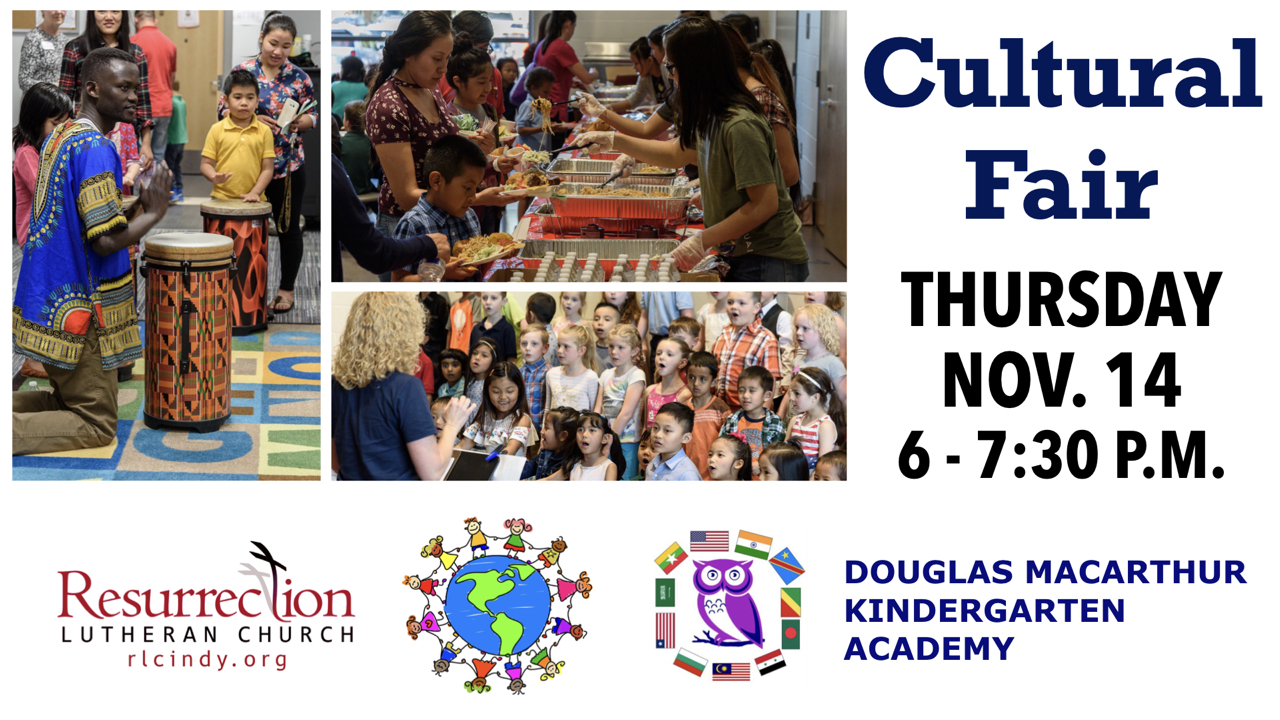 RLC and DMKA Cultural Fair on Thursday, Nov. 14 from 6-7:30 p.m.