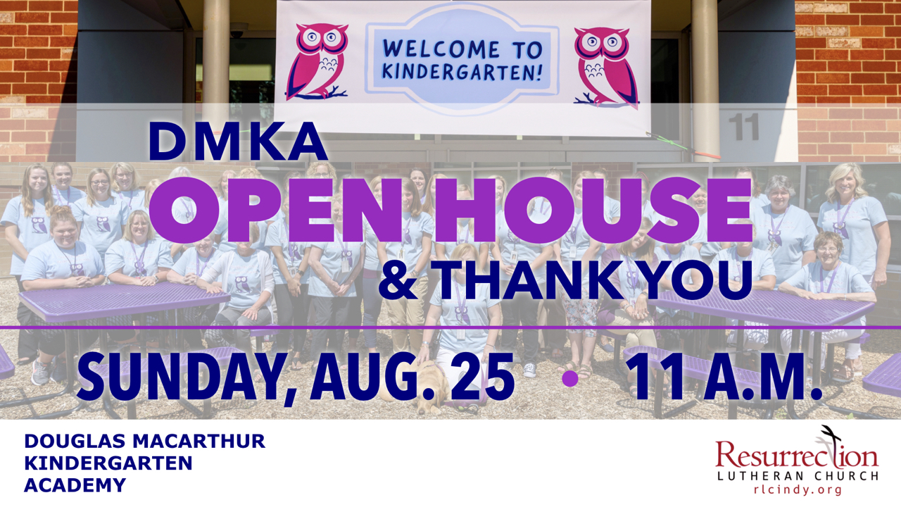 Douglas MacArthur Kindergarten Academy Open House and Thank You on Sunday, Aug. 25 at 11 a.m.