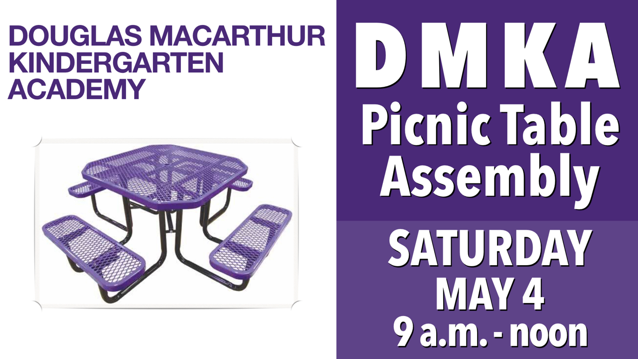 RLC Assembles DMKA Picnic Tables Saturday, May 4 from 9 a.m. - noon