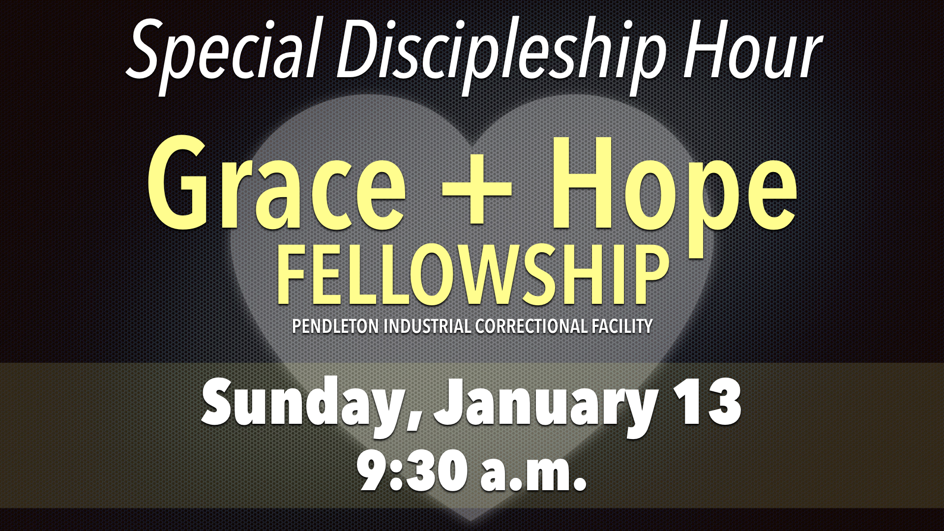 Special Discipleship Hour on Grace and Hope Fellowship
