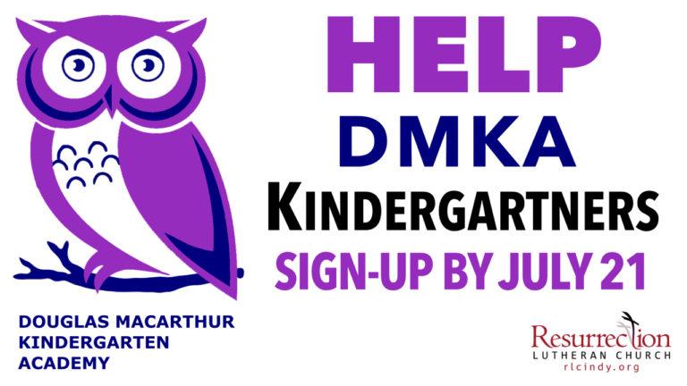 Help DMKA Kindergartners Sign Up