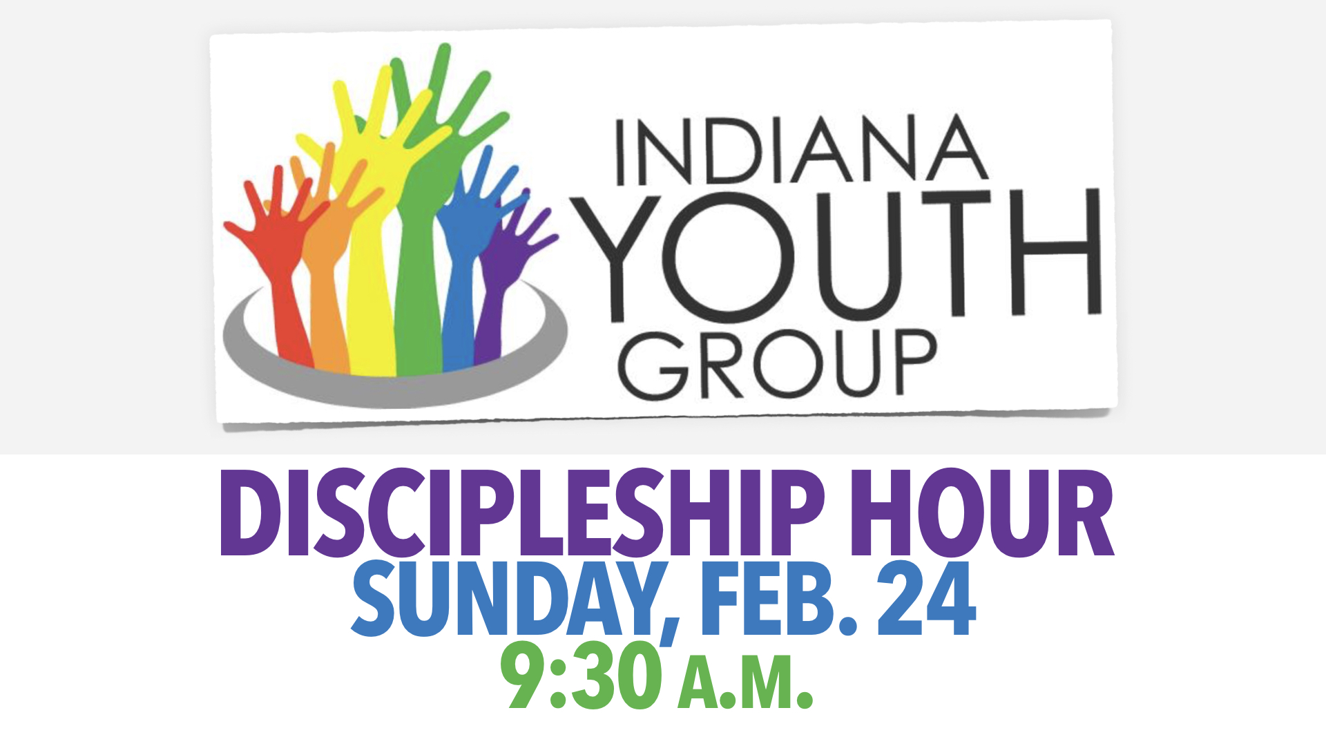 Discipleship Hour with Indiana Youth Group