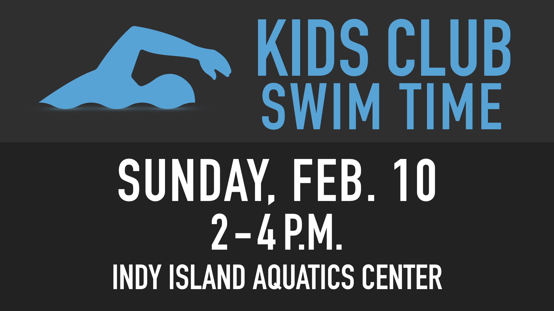 RLC Kids Club Swim Time at Indy Island Aquatics Center