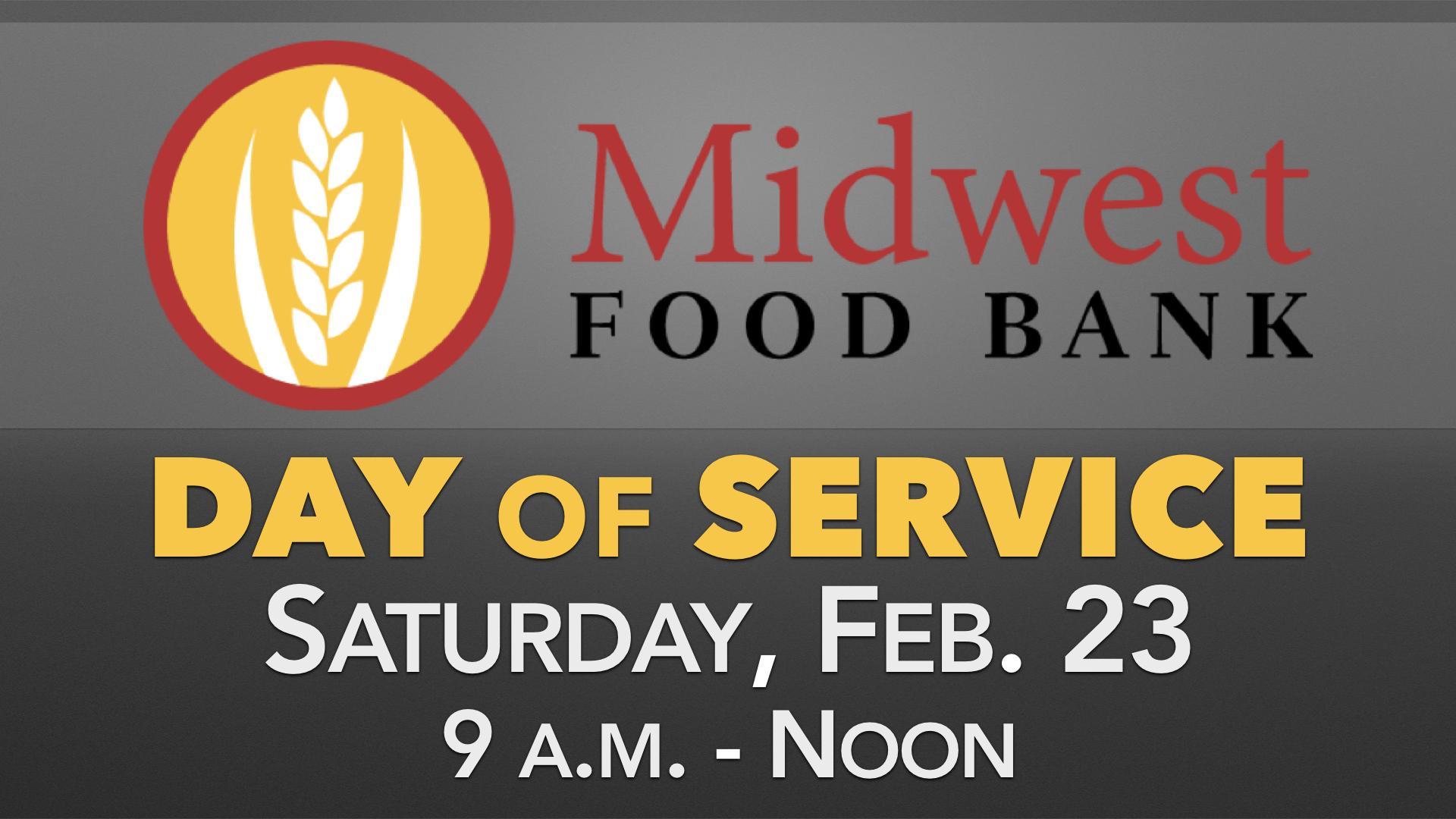 Midwest Food Bank Day of Service