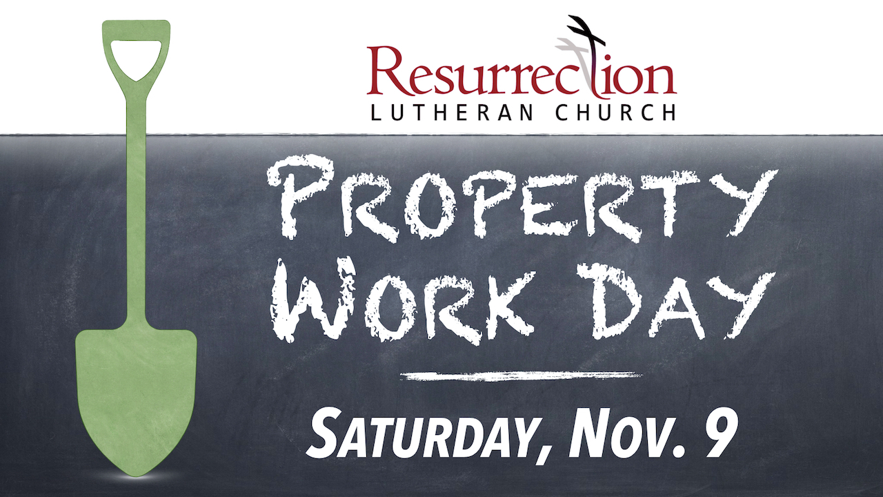 RLC Property Work Day on Saturday, Nov. 10