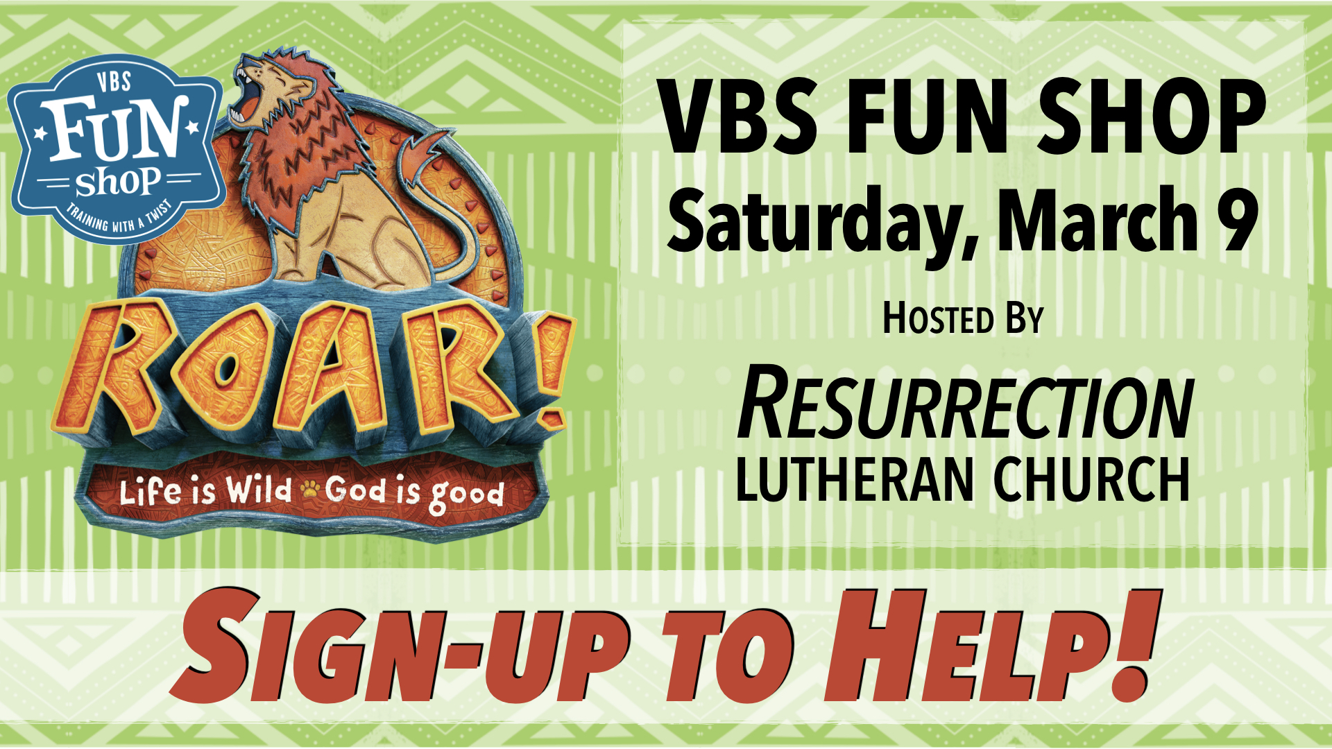 Sign Up to Help with VBS Fun Shop at RLC