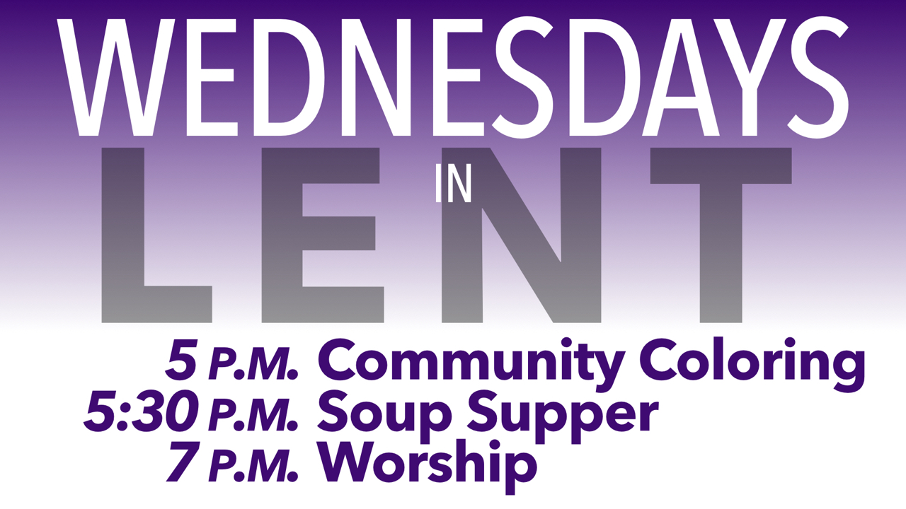 RLC Wednesdays in Lent Schedule