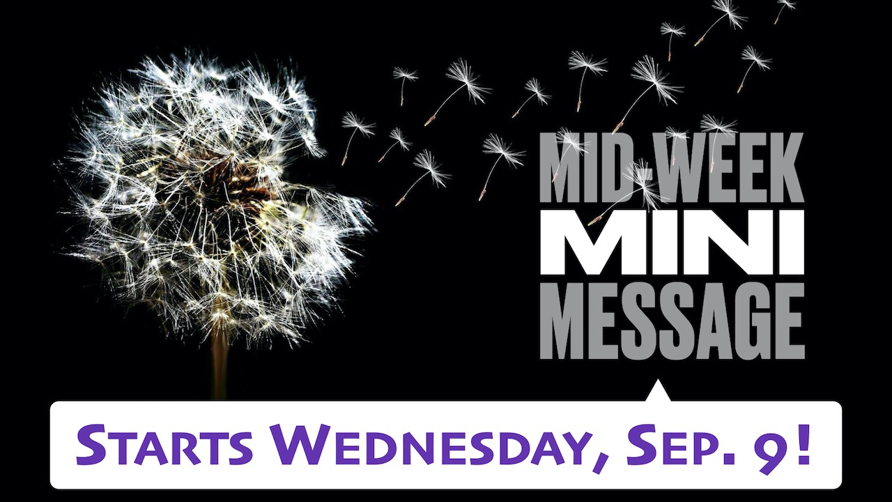 Mid-Week Mini Message for RLC Kids Start Wednesday, Sep. 9