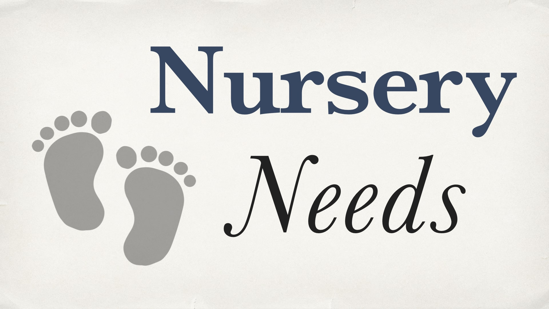 RLC Nursery Needs