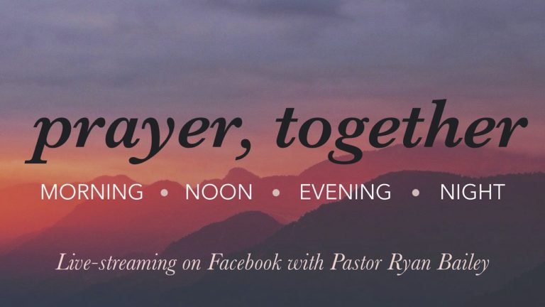 Live-streaming Prayer on Facebook with Pastor Ryan Bailey