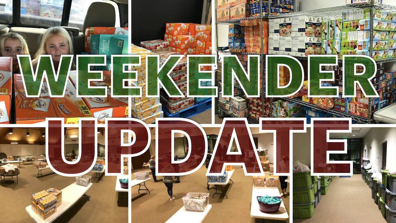 Weekender Backpack Ministry December Update