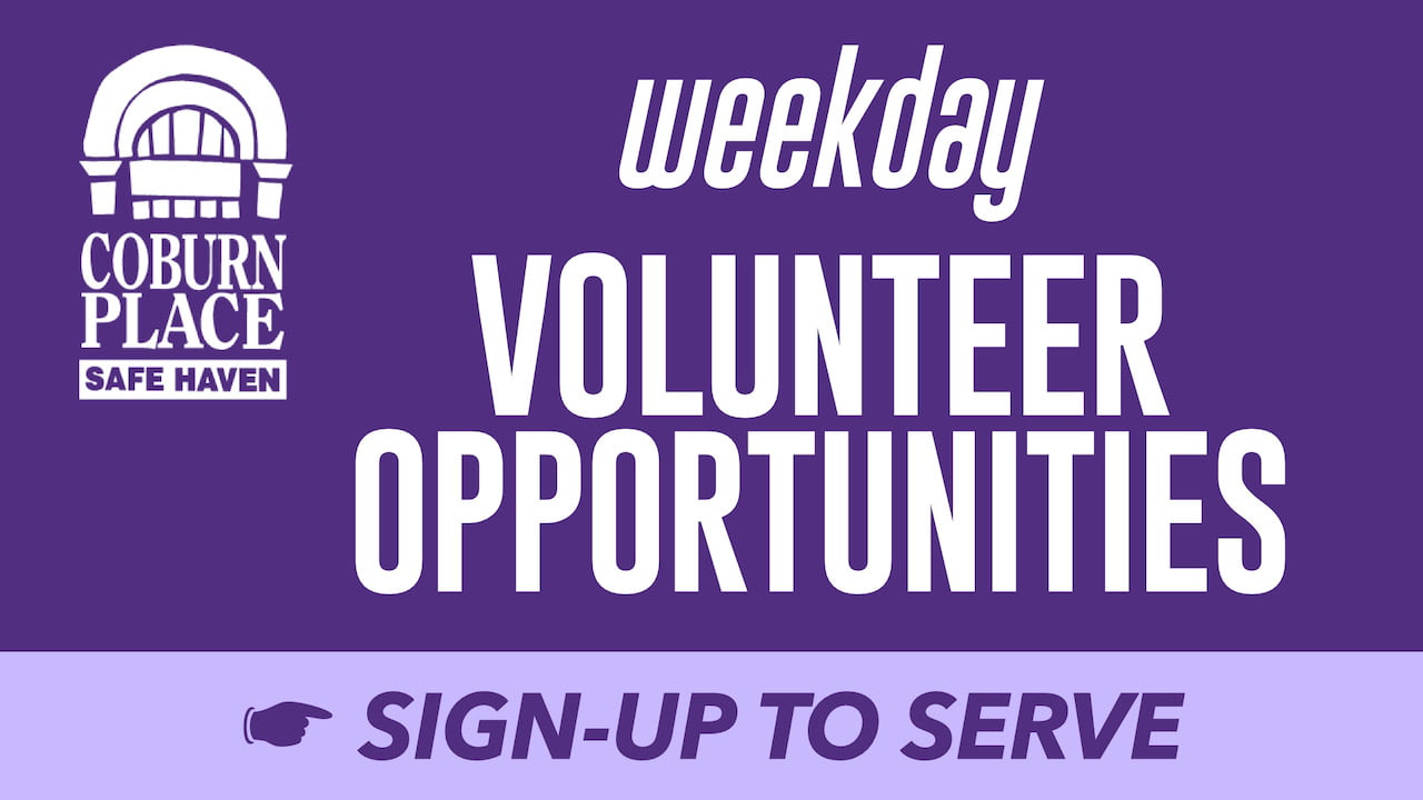 Sign-up for Coburn Place Weekday Volunteer Opportunities
