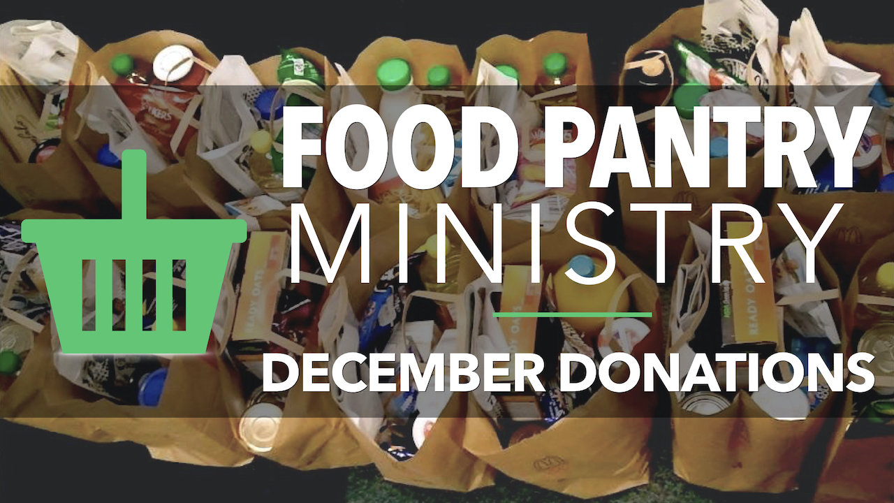 RLC Food Pantry Ministry December Donations