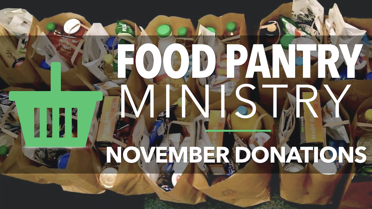 RLC Food Pantry Ministry November Donations