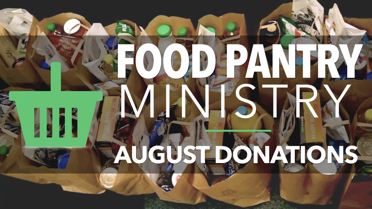 RLC Food Pantry Ministry August Donations