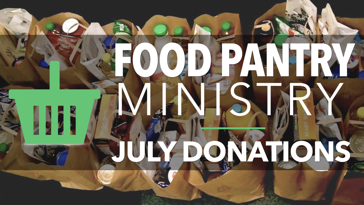 RLC Food Pantry Ministry July Donations