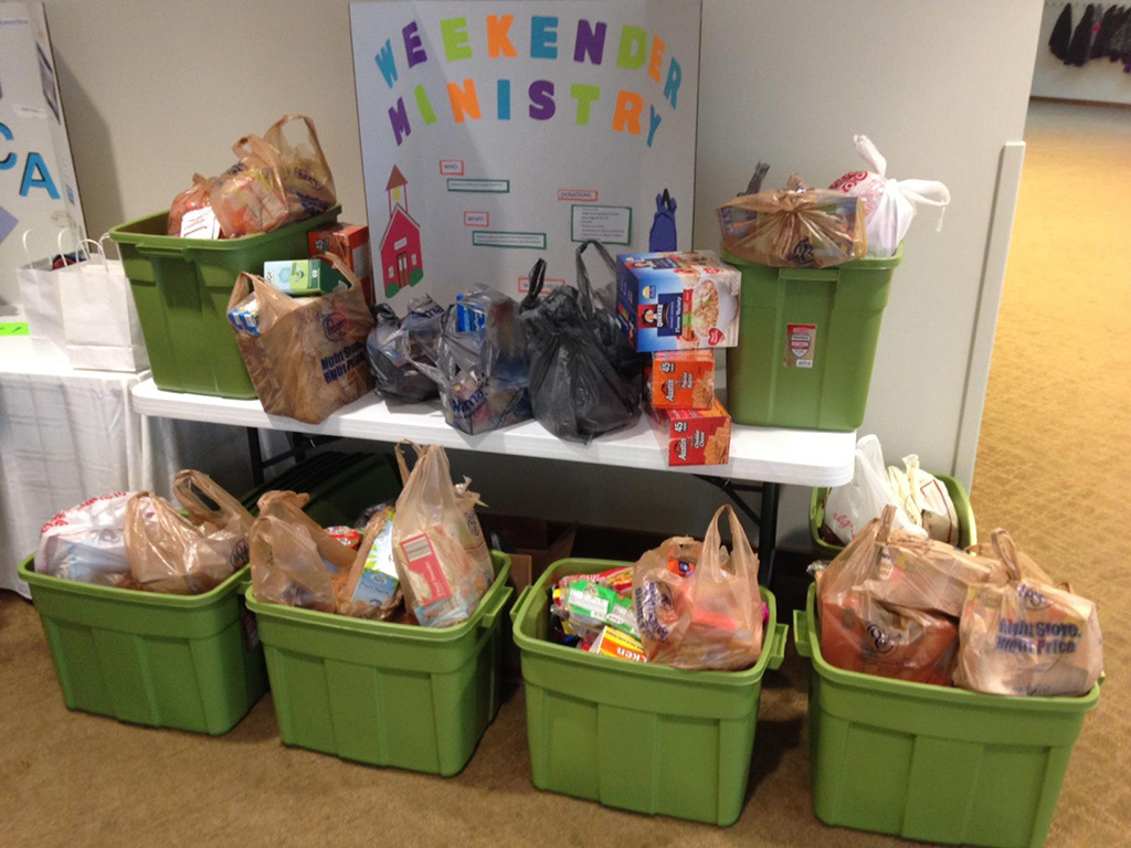 Bags of food for Indianapolis students